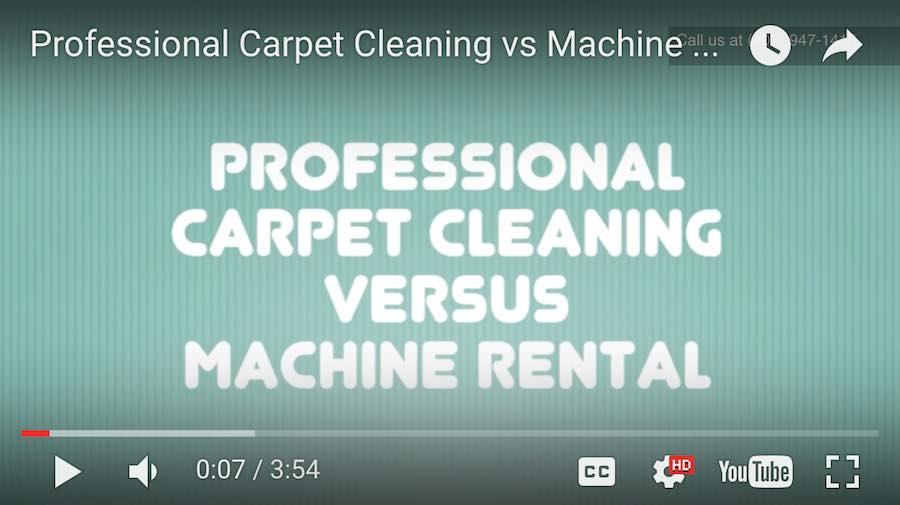 Professional Carpet Cleaner vs Machine Rental